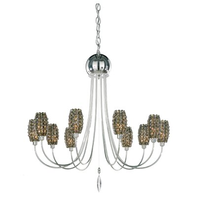 Dionyx 10-Light Candle-Style Chandelier Crystal Type: Swarovski Elements Azurite