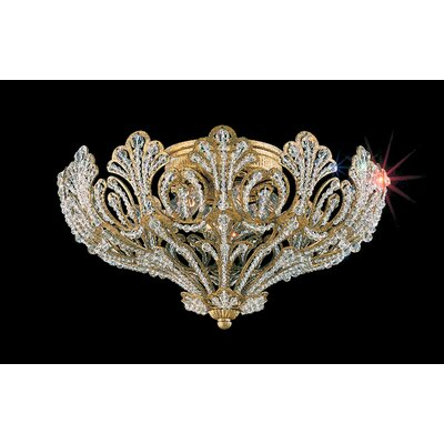 Rivendell 5-Light Flush Mount Finish: Etruscan Gold, Crystal Grade: Strass Clear