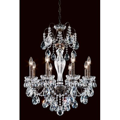 Sonatina 8-Light Crystal Chandelier Crystal Type: Swarovski Elements Clear, Finish: Antique Silver