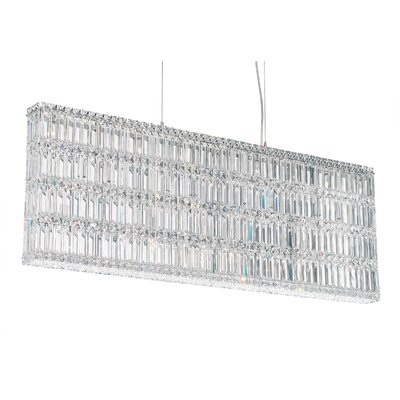 Quantum LED Kitchen Island Pendant Height / Crystal Color: 17