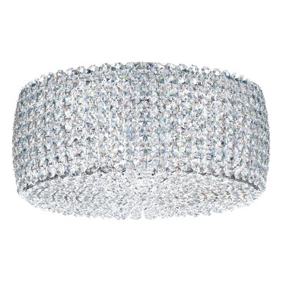 Matrix 2-Light Flush Mount Crystal Type: Swarovski Elements Black Diamond