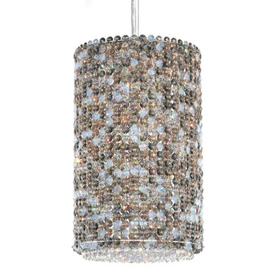 Matrix 4-Light Drum Pendant Crystal Type: Swarovski Elements Golden Teak