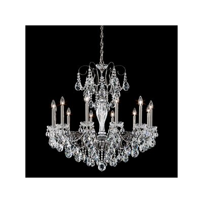Sonatina 12-Light Crystal Chandelier Crystal Type: Swarovski Elements Clear, Finish: Antique Silver