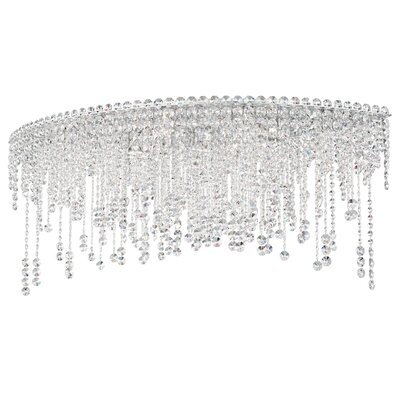 Chantant 8-Light Flush Mount Crystal Type: Heritage Handcut Crystal Clear