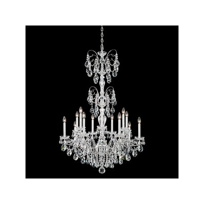 Sonatina 14-Light Crystal Chandelier Finish: Antique Silver