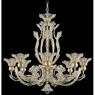 Rivendell 8-Light Crystal Chandelier Finish: Etruscan Gold, Crystal Color: Strass Clear
