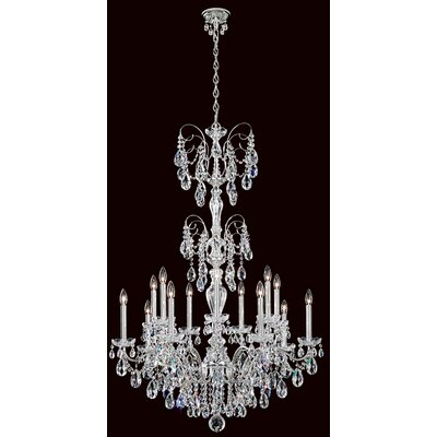 Sonatina 14-Light Candle-Style Chandelier Finish: Antique Silver