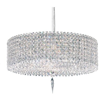 Matrix 5-Light Crystal Pendant Crystal Type: Swarovski Elements Travertine