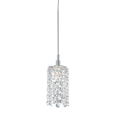 Refrax 1-Light Crystal Mini Pendant Crystal Type: Swarovski Elements Black Diamond