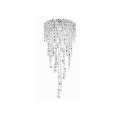 Chantant 3-Light Flush Mount Crystal Grade: Spectra