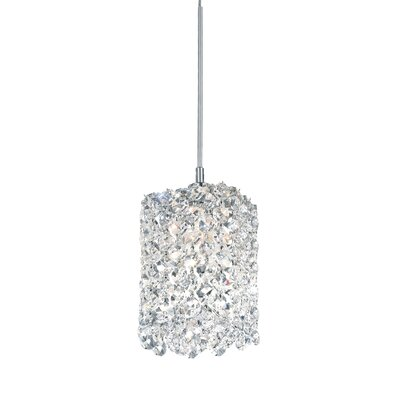 Refrax 1-Light Mini Crystal Pendant Crystal Type: Swarovski Elements Black Diamond