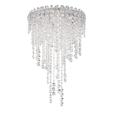 Chantant 4-Light Flush Mount Crystal Grade: Spectra, Size: 35.5 H x 14 W