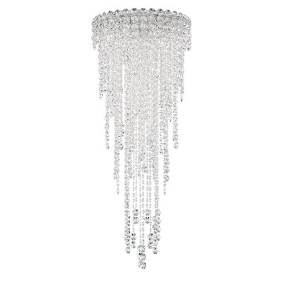 Chantant 4-Light Flush Mount Crystal Grade: Heritage Handcut, Size: 35.5 H x 14 W