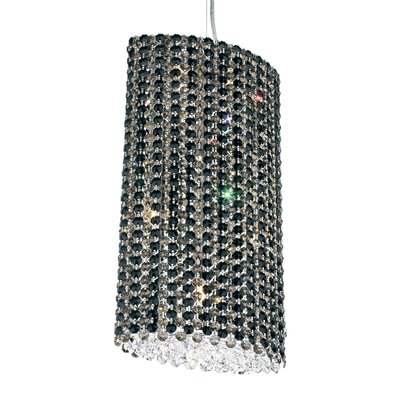 Refrax 6-Light Crystal Pendant Crystal Type: Swarovski Elements Travertine