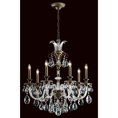 Rivington 7-Light Crystal Chandelier Finish: Heirloom Bronze
