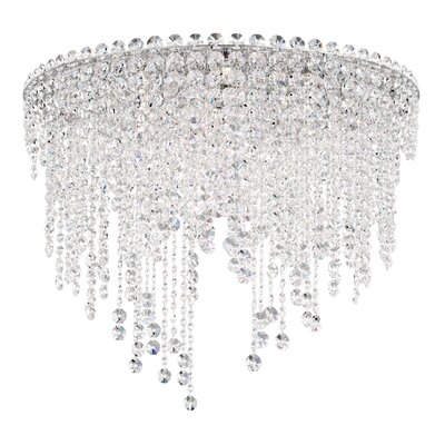 Chantant 6-Light Flush Mount Size: 20.5 H x 24 W, Crystal Grade: Spectra