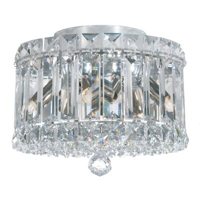 Plaza 4-Light Flush Mount Crystal Type: Spectra Clear