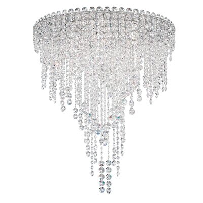 Chantant 6-Light Flush Mount Size: 28.5 H x 24 W, Crystal Grade: Heritage Handcut