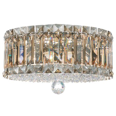 Plaza 4-Light Flush Mount Crystal Type: Swarovski Elements Golden Shadow