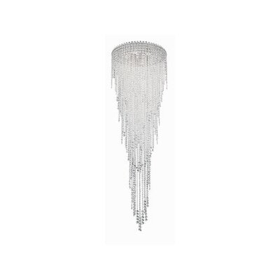 Chantant 6-Light Flush Mount Size: 79.5 H x 24 W, Crystal Grade: Heritage Handcut