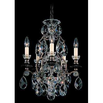 Renaissance 5-Light Crystal Chandelier Finish / Crystal Color: Antique Silver / Strass Golden Teak