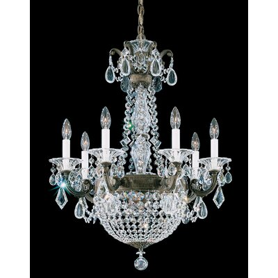 La Scala Empire 9-Light Candle-Style Chandelier Finish: Parchment Gold