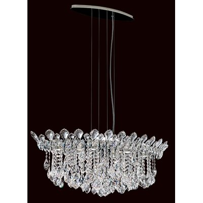 Trilliane 6-Light Kitchen Island Pendant Crystal Type: Heritage Handcut Clear