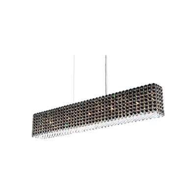 Refrax 11-Light Kitchen Island Pendant Crystal Type: Swarovski Elements Golden Teak