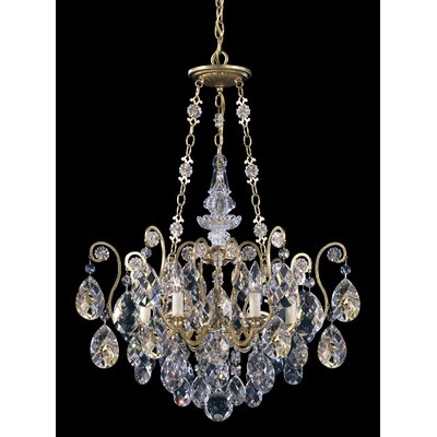 Renaissance 6-Light Crystal Chandelier Finish: Etruscan Gold, Crystal Type: Swarovski Elements Clear