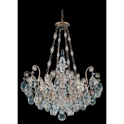 Renaissance 8-Light Crystal Chandelier Crystal Type: Swarovski Elements Clear, Finish: Heirloom Bronze