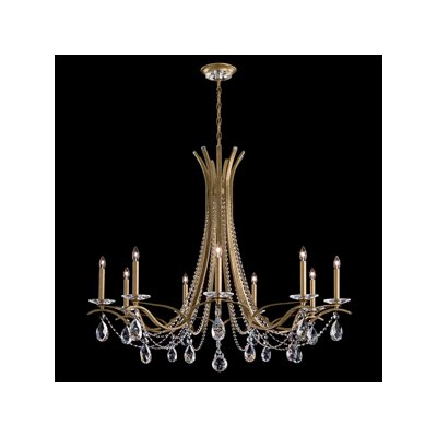 Vesca 9-Light Candle-Style Chandelier Finish: Antique Silver, Crystal Type: Clear Crystals From Swarovski