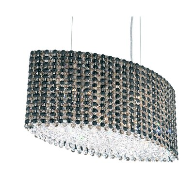 Refrax 9-Light Kitchen Island Pendant Crystal Type: Swarovski Elements Black Diamond