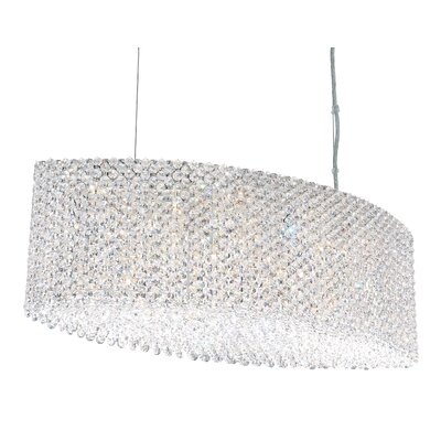 Refrax 17-Light Kitchen Island Pendant Crystal Type: Swarovski Elements Golden Teak