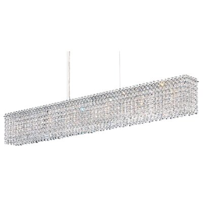 Matrix 6-Light Kitchen Island Pendant Crystal Type: Swarovski Elements Travertine