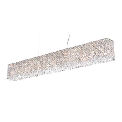 Refrax 15-Light Kitchen Island Pendant Crystal Type: Swarovski Elements Golden Teak