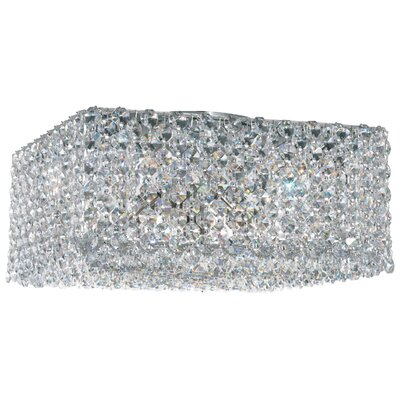 Refrax 4-Light Flush Mount Crystal Type: Swarovski Elements Golden Teak