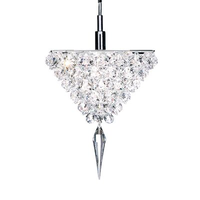 Vertex 1-Light Mini Pendant Crystal Type: Swarovski Elements Travertine