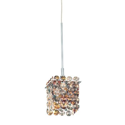 Matrix 1-Light Mini Pendant Crystal Type: Swarovski Elements Golden Teak