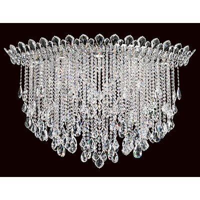 Trilliane Strands 8-Light Flush Mount Crystal Type: Heritage Handcut Clear