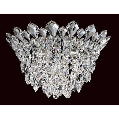 Trilliane Strands 4-Light Flush Mount Crystal Grade: Spectra
