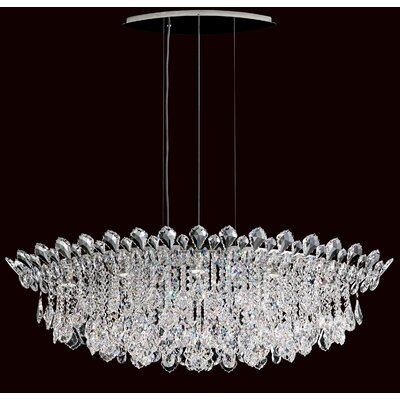 Trilliane 8-Light Kitchen Island Pendant Crystal Type: Heritage Handcut Clear