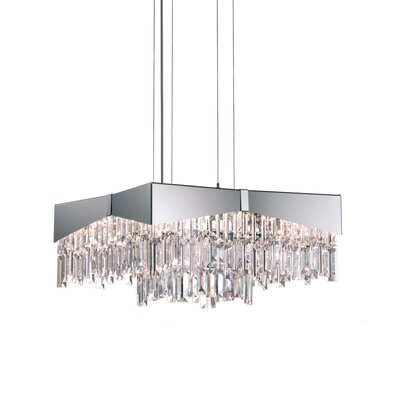 Riviera 8-Light Crystal Pendant Finish: Brushed Stainless Steel