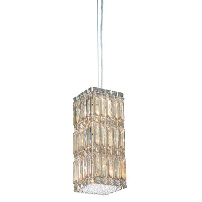 Quantum 2-Light LED Mini Pendant Height / Crystal Color: 13 / Strass Golden Shadow