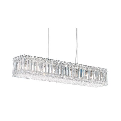 Quantum 10-Light LED Kitchen Island Pendant Width / Crystal Color: 35.5 / Strass Clear