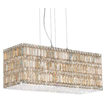 Quantum LED Kitchen Island Pendant Height / Crystal Color: 12 / Strass Golden Shadow