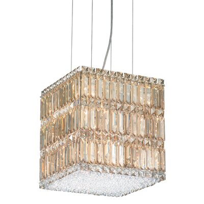 Quantum 2-Light Drum Pendant Height / Crystal Color: 13 / Strass Golden Shadow