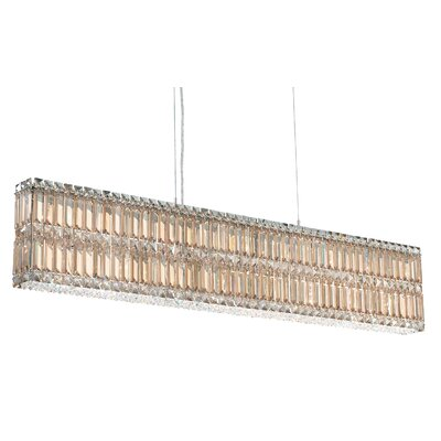 Quantum 17-Light Kitchen Island Pendant Width / Crystal Color: 47 / Strass Golden Shadow