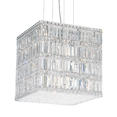 Quantum 2-Light Drum Pendant Height / Crystal Color: 17 / Swarovski Spectra