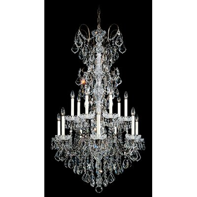 New Orleans 14-Light Candle-Style Chandelier Finish / Crystal Color: Polished Silver / Strass Golden Teak