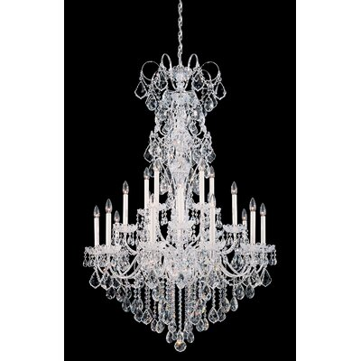 New Orleans 20-Light Candle-Style Chandelier Finish / Crystal Color: Antique Silver / Strass Golden Teak